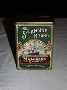 VINTAGE-THE-STEAMSHIP-BRAND-MOLASSES-CANDY-SOUVENIR-SCOTTISH-EXHIBITION-TIN