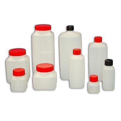 Plastikflasche Kunststoff Flasche Weithalsflasche Vierkantflasche mit Deckel