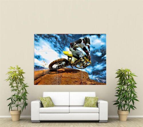 Motorcross Motorbike Giant XL Section Wall Art Poster SP120