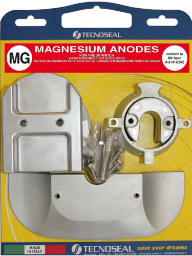 Replaces 888755Q03 Mercruiser Alpha One Gen 2 1991 /& Up Magnesium Anode Kit