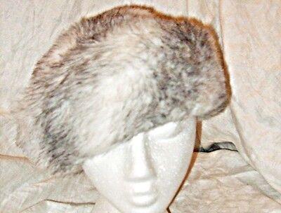 * Vintage Chic Veicoli Di Albert Inverno Bianco Con Nero Fleck Caldo Divertente Cappello Di Pelliccia-mostra Il Titolo Originale