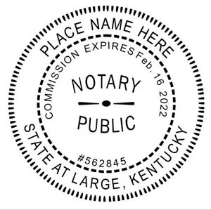 Image Is Loading Notary Kentucky Custom Round Self Inking Official