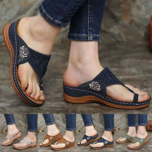 Womens Orthopedic Sandals Embroidery