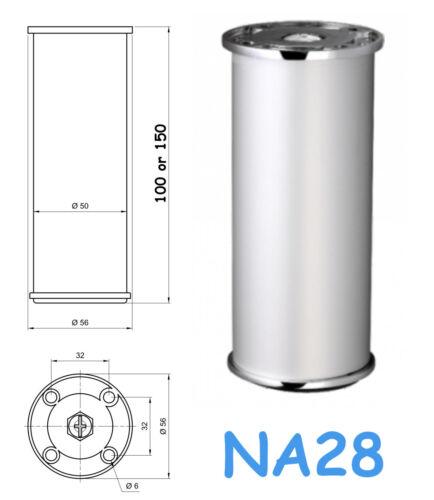 4x Aluminium Anodisé meubles JAMBES//pieds canapé Plinthe Armoire Cabinets NA28