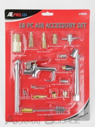 18 Pcs Air Accessory Kit Air Compressor Tools /& Fittings Starter Kit Automotive