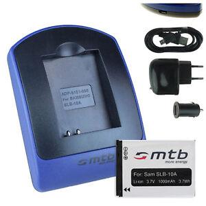 Chargeur-Batterie-USB-SLB-10-pour-Toshiba-Camileo-X-Sports