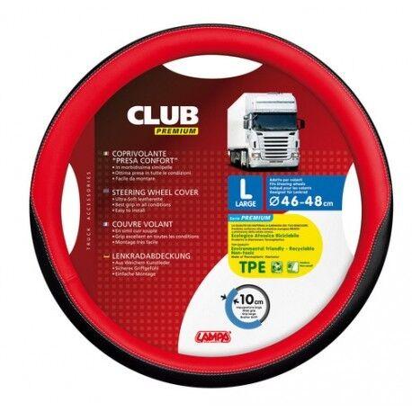"""Coprivolante /""""club/"""" Premium Nero+rosso /""""l/"""" 46-48 C Camion ricambio"""
