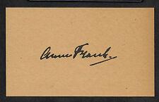 Anne Frank Autograph Reprint On Genuine Original Period 1940s 3X5 Card