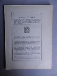 Details Sur Genealogie Famille De Sabran Ponteves