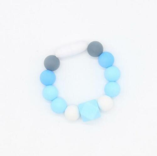 NEW 1pcs Food grade Silicone Beads Bracelet Baby Teether molar Silicone  toy