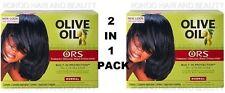 2 X orgánicos raíces aceite de oliva Cabello Alisadora sin lejía normal Alisadora (twin Pack)