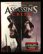 Assassin's Creed (Blu-ray/DVD/Digital HD, 2017) NEW w/ Slipcover