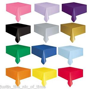 Plastic-Tablecovers-Table-Housse-en-tissu-Parti-Catering-evenements-vaisselle-22-couleurs