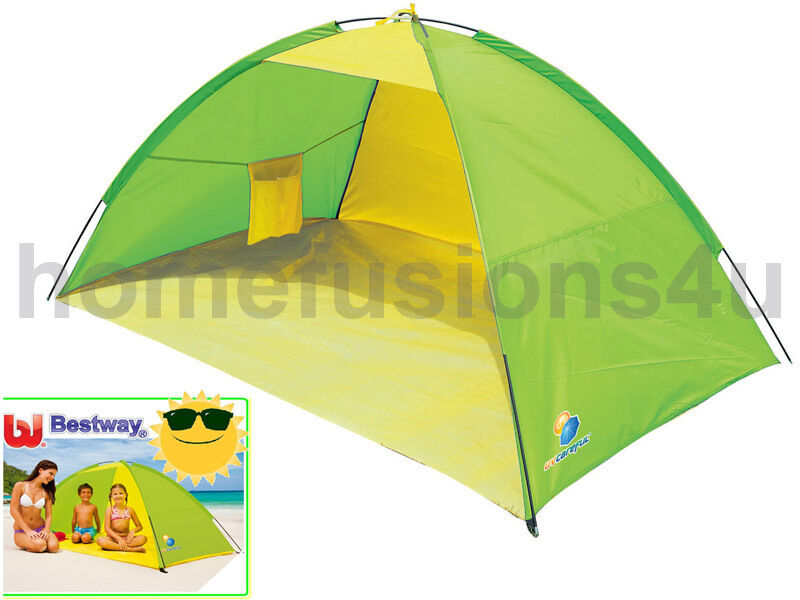 BESTWAY POP UP BEACH SHELTER TENT UV SUN PredECTOR CAMPING FISHING KIDS BABY