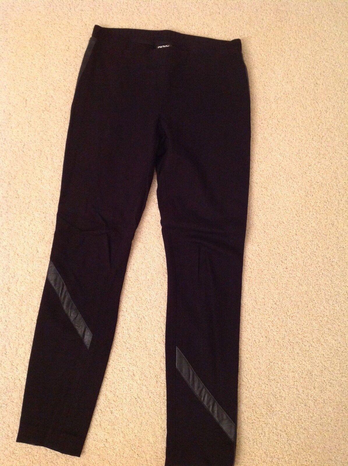 DKNY Leather trim trousers  leggings