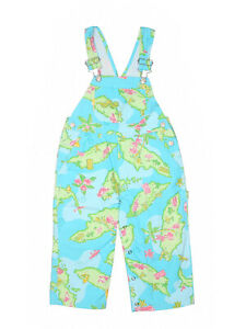 Toddler-Girl-Lilly-Pulitzer-Island-Hopping-Overalls-Shortalls-Size-3T