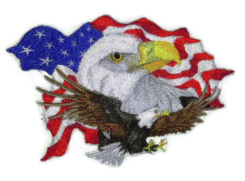 3 Patriotic Patch Collection No. Embroidered Iron On Patches