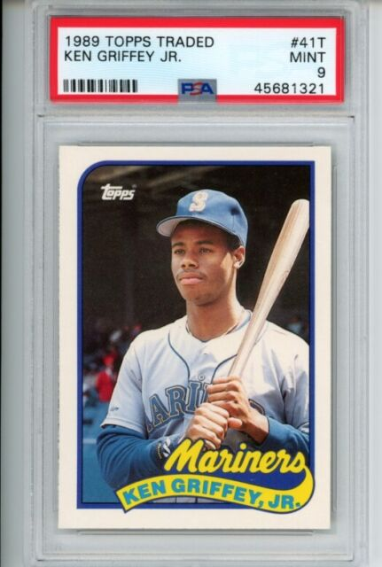 1989 Topps Traded KEN GRIFFEY JR #41T Rookie RC PSA 9 Seattle Mariners