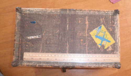 1950's doll trunk wooden TWA China Cilpper decals NICE!