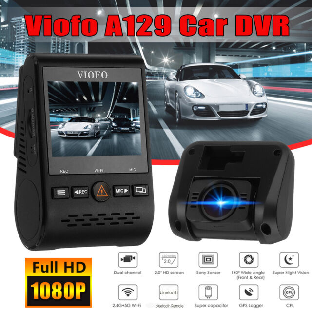 Viofo A129 1080P Car Dash Camera DVR Video Recorder GPS Wi-Fi Dual Channel