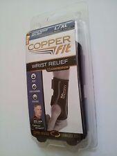 56c9bf7893 Copper Fit Wrist Brace Relief Right hand Size L/XL Copper Infused  Compression