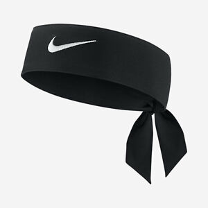 c0b91d0c041 New Womens Nike Head Tie Dri Fit 2.0 Black Headband Tennis Running ...