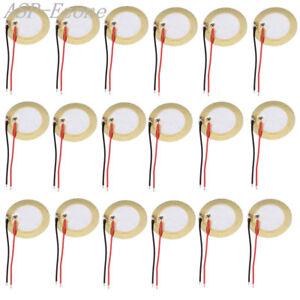 100Pcs Quartz piézo Céramique Plaquette Plaque Diamètre 15 mm pour Buzzer