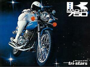 Details about KAWASAKI Brochure H2 Mach IV 750 1972 TRI Star Sales Catalog  Catalogue REPRO