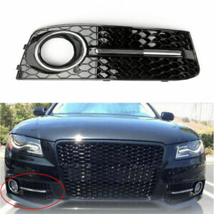 Areyourshop RH Chrome Honey Comb Fog Light Cover Grille Grills For A-u-d-i A4 B8 2009-2012