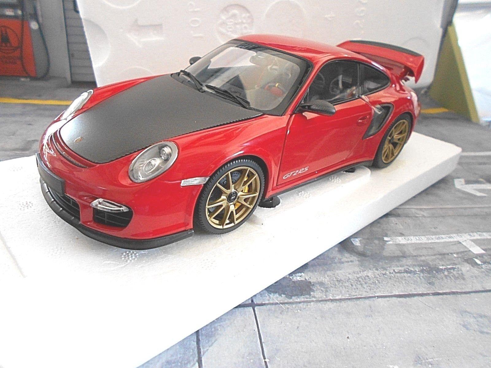 PORSCHE 911 997 II GT2 RS 2011 röta gyllene hjul Minichamps lim SP 1 18