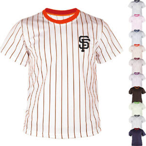 save off 28472 95afd Details about KH2008 San Francisco Giants Striped Baseball Jersey T-Shirt  Tee Uniform Dry 0115