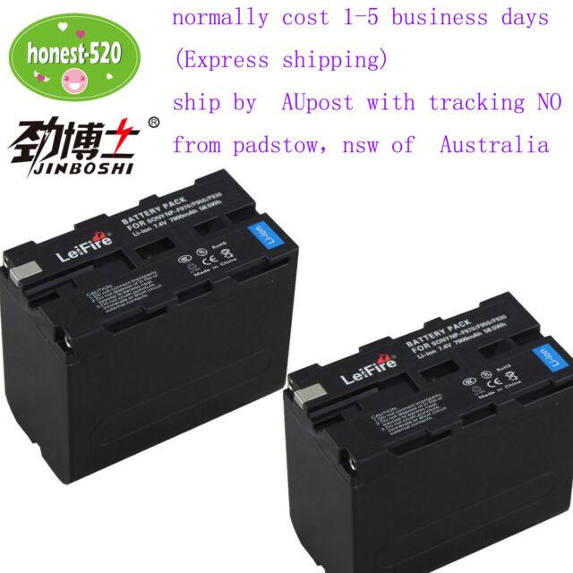 2X 7.4V 7900mAh Battery For Sony NP-F970 F550 NP-F530 NP-F570 F330 F750 F770 AU