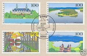 Rfa 1996: Images De L'allemagne Nr 1849-1852 Avec Bonner Cachet Spécial! 1 A! 1904-afficher Le Titre D'origine