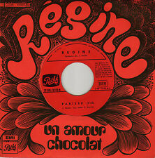 REGINE UN AMOUR CHOCOLAT / PARISSE FRENCH 45 SINGLE M. COLOMBIER / J. HEIDER