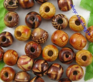FREE-SHIP-100pcs-Mixed-Color-Wood-Round-Charms-Loose-Beads-10MM-SH265