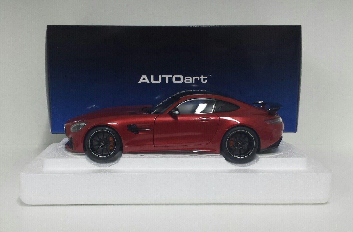 Autoart 1 18 model voiture mercedes amg  gtr 2017 rouge metallic opening die cast  les clients d'abord