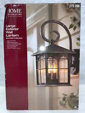 Home Decorators Brimfield 3-Light Aged Iron Outdoor Wall Lantern