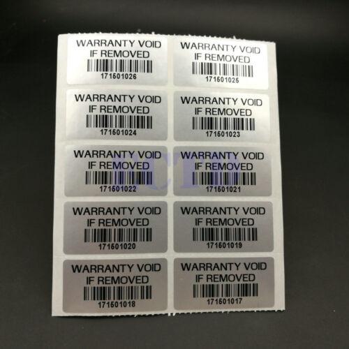 "300 X /""Warranty VOID If Removed sticker /"" Security Warranty sticker Silver"