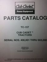 Ih Cub 149 Cadet Lawn Garden Tractor Parts Manual 42p Riding Mower International