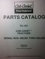 Ih Cub 1250 Cadet Lawn Garden Tractor Parts Manual 50pg Riding Mow International