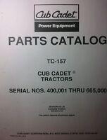 Ih Cub 129 Cadet Lawn Garden Tractor Parts Manual 48p Riding Mower International