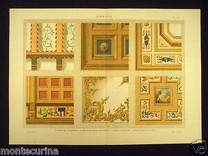 Soffitti legno medioevo rinascimento decorazioni stampa