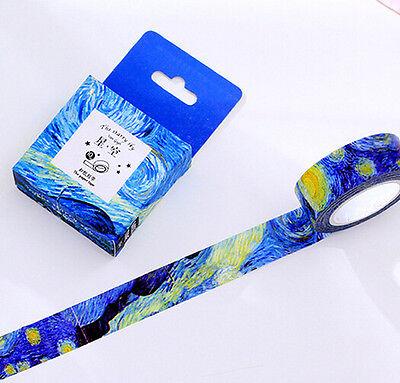 Starry Sky Theme Masking Washi Tape diary Sticky DIY Adhesive Sticker
