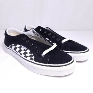 074d0083348 Image is loading Vans-Checkerboard-Corduroy-Lampin-Skate-Shoes-Black-White-