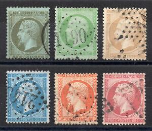 Classiques-de-France-Napoleon-n-19-a-24-6-timbres-TB