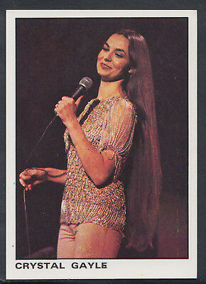 Crystal Gayle S275 Sticker No 12 Panini 1980 Rock /& Pop Collection