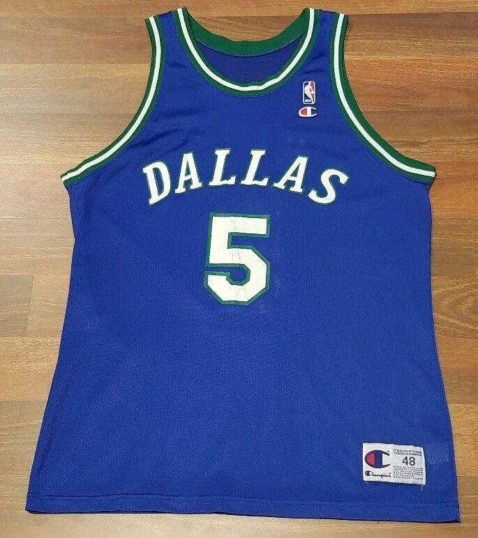 Años 90 De Colección Dallas Mavericks Jason Kidd campeón Baloncesto Jersey Nba