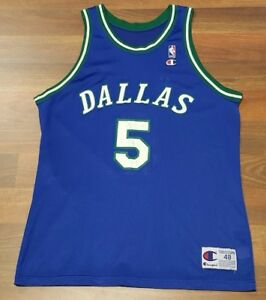 the best attitude 72b6d 0e5d2 Details about 90's Vintage Dallas Mavericks Jason Kidd Champion Basketball  NBA Jersey Size 48