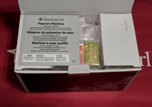 American Girl MOVIE POPCORN maker MACHINE for Dolls CANDY Drinks NEW IN BOX