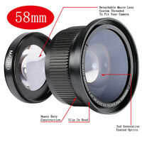 Neewer 58mm 0.35x Fisheye Super-weitwinkel-objektiv Fur Canon 600d 650d (de)